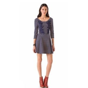 Free People Nautical and Knotty dress striped navy